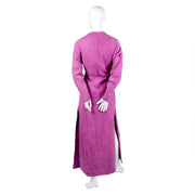 Vintage Adolfo pink suede long coat dress