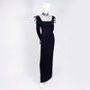 Floor length black Adolfo vintage dress