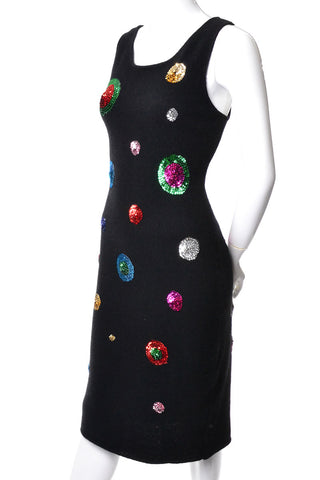 Adrienne Vittadini black wool vintage dress