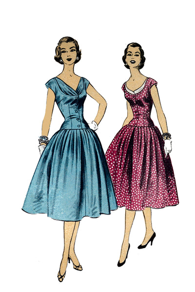 Advance 7103 Vintage Dress Pattern 1950s