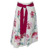 Aida 1960s Vintage Embroidered Floral Skirt Frederick and Nelson