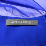 Alberta Ferretti blue cape dress label