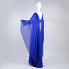 Alberta Ferretti blue long dress with sheer cape