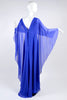 Alberta Ferretti blue cape dress