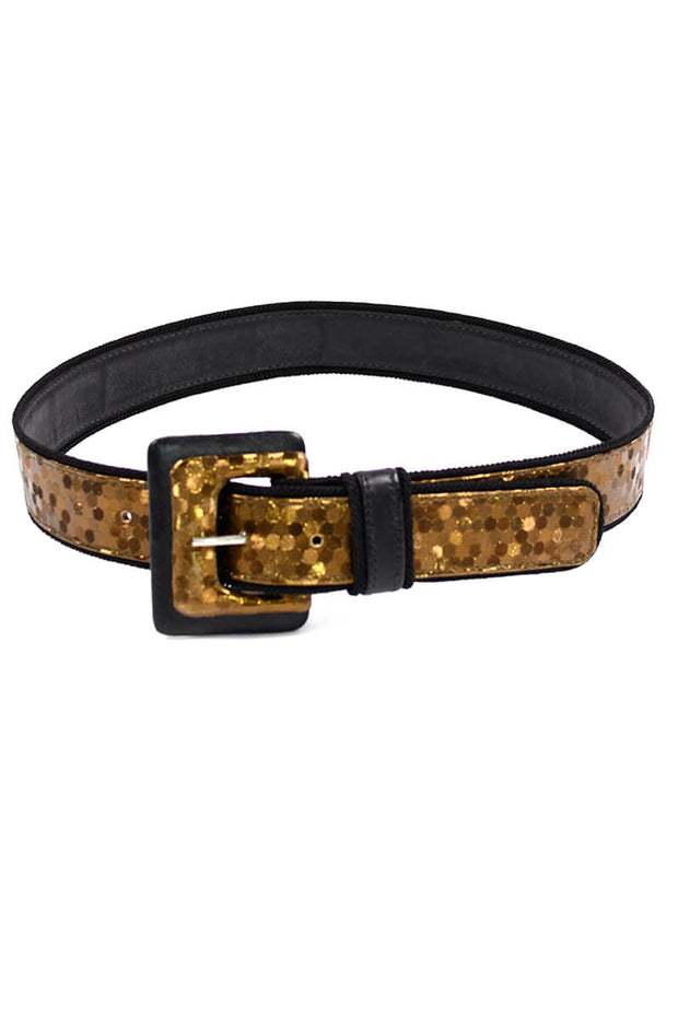 Vintage Festive Holiday Sequin Belt