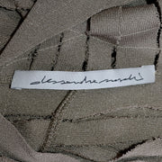 Alessandra Marchi Italian Designer Deconstructed Slashed Knit Dress
