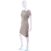Alessandra Marchi Slashed Avant Garde Woven Dress Modig