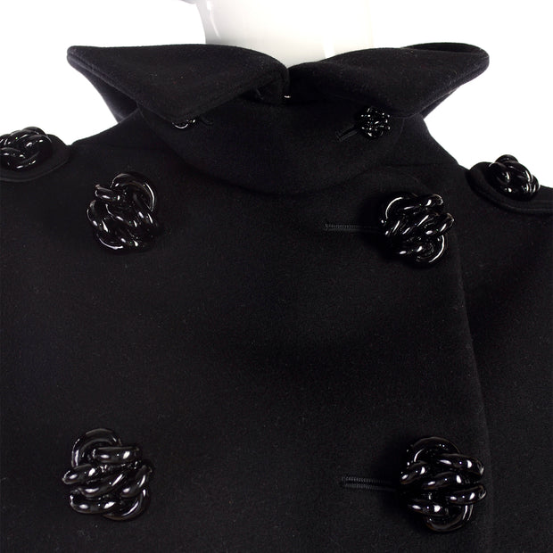Alexander McQueen double breasted short sleeve jacket cape