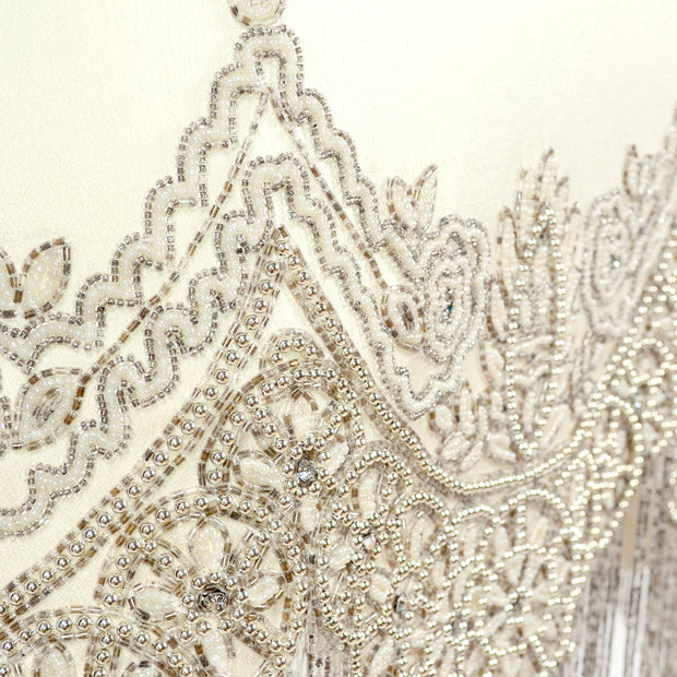 Beautiful hand beading on silk from Alexander McQueen 2007 collection
