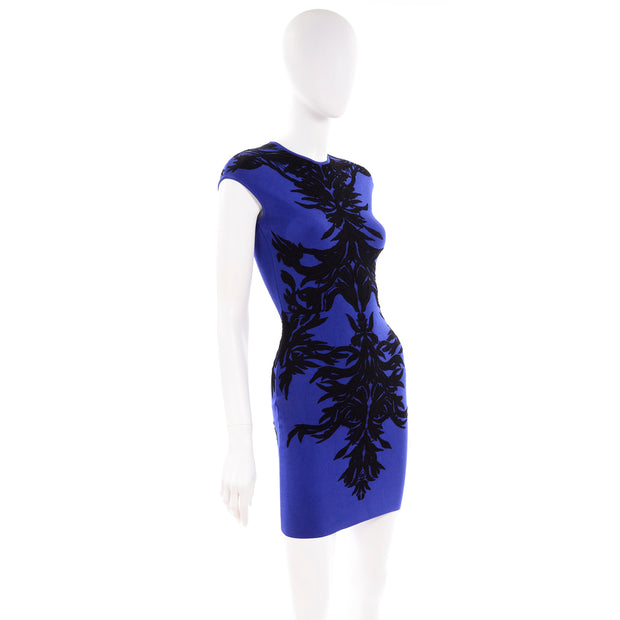 Alexander McQueen spine dress with black lace details