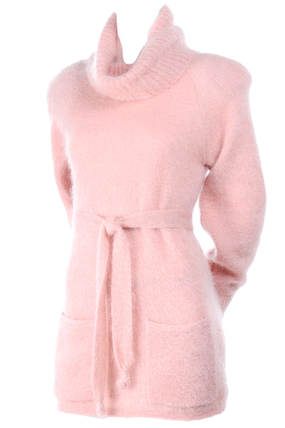 Anne Klein pink mohair vintage sweater tunic