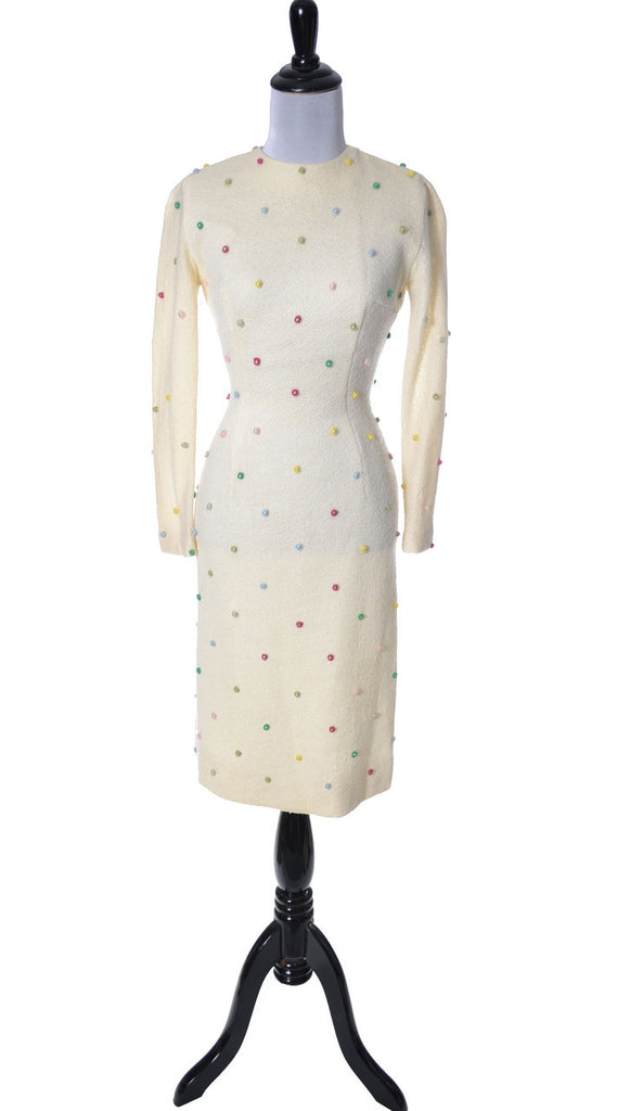 Anne Fogarty vintage winter white dress