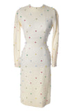 Ann Fogarty 1960s white wool bombshell dress