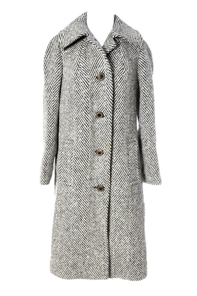 Aquascutum Herringbone Wool Vintage Coat - Dressing Vintage