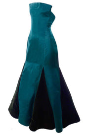 Arnold Scaasi green evening gown