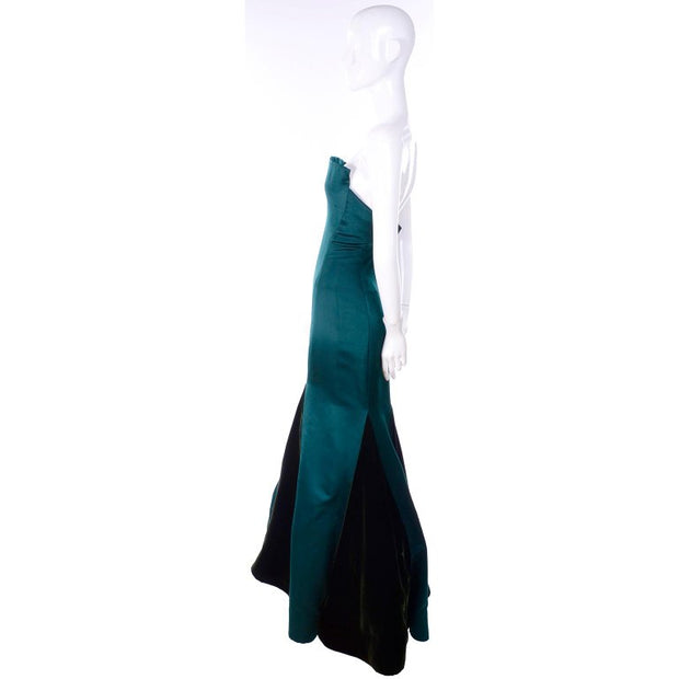 Strapless vintage evening gown with trumpet skirt