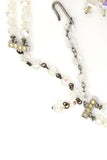 Vintage Crystal Necklace Earrings Demi Parure double Strand