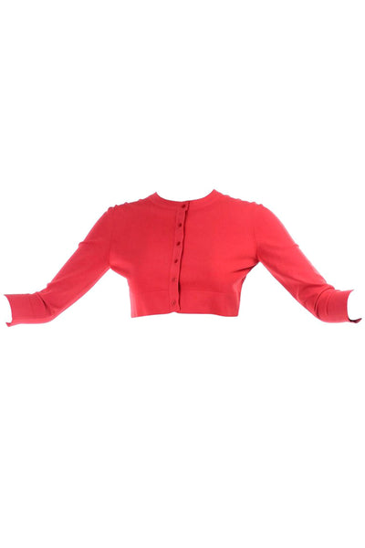 Azzedine Alaia Coral Cropped Sweater