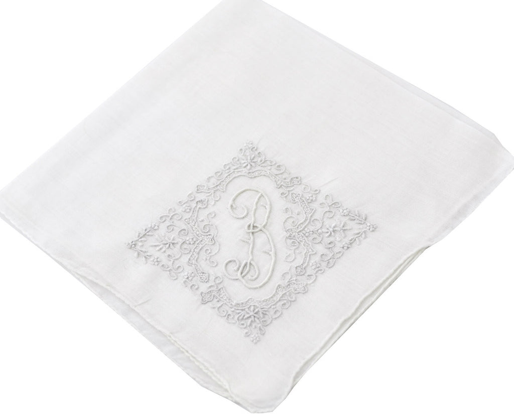 Pretty vintage handkerchief with B monogram