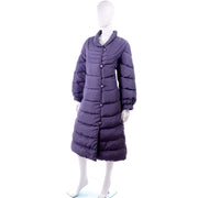 Quilted Bill Blass Purple Vintage Puffer Coat
