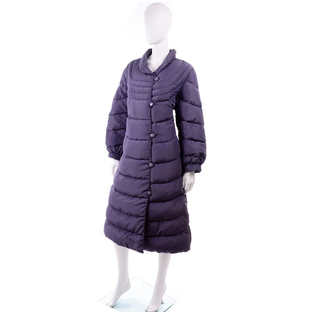 Bill Blass Purple Vintage Puffer Coat 1980s