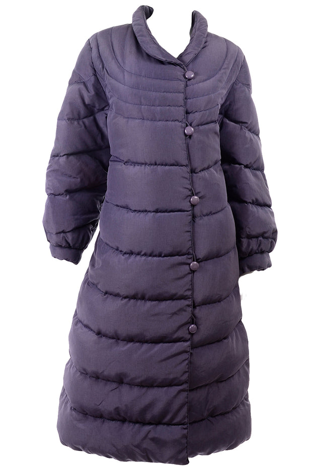 Bill Blass Purple Vintage Puffer Coat
