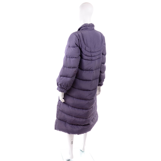 80s Bill Blass Purple Vintage Puffer Coat