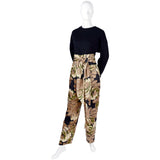 Bill Blass Pants outfit with scarf, top and jacket