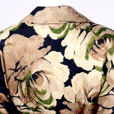 Bill Blass floral silk Bill Blass long jacket ensemble