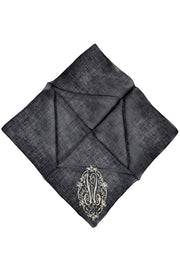 Monogrammed Vintage Mourning Handkerchiefs Black W Initial