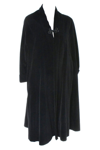 1950s Vintage Swing coat Black Velvet