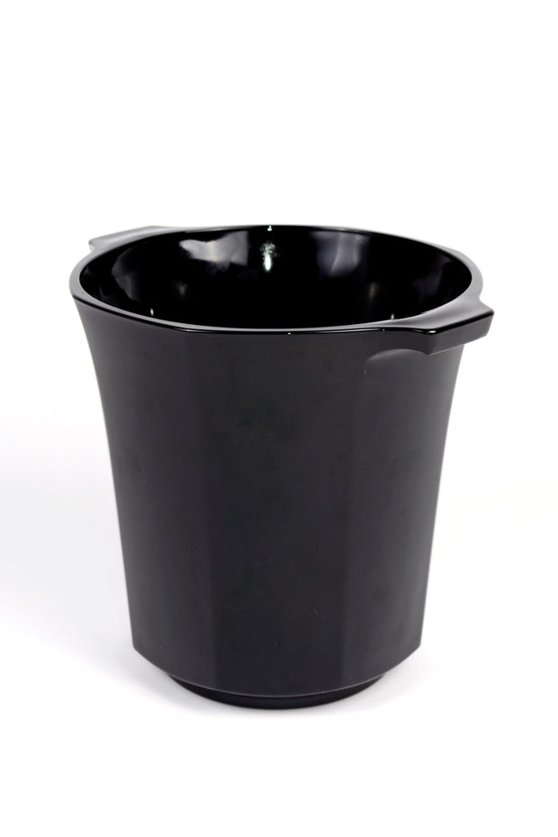 Vintage French Black Octagon Ice Bucket