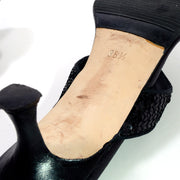 38.5 Manolo Blahnik black sandals with heel Made in Italy