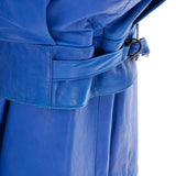 1980s Blue Leather Avant Garde Skirt & Jacket