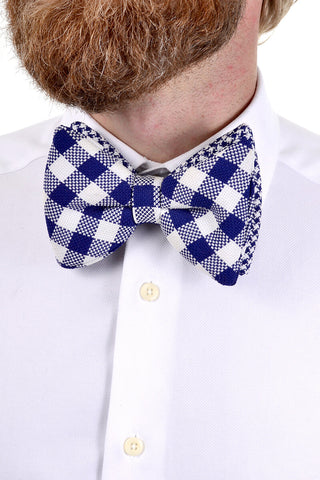 Vintage bow tie pre tied oversized plaid