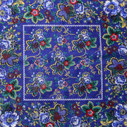 1960s Blue Floral Cotton Bandana RN 14193