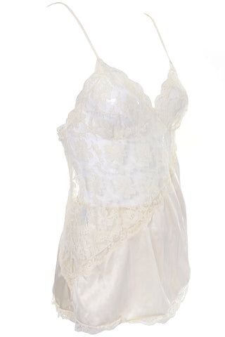 Olga Full Sweep Vintage Nightgown Lace Trim