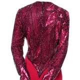 1980s Bob Mackie Red Beaded Vintage Dress Details