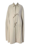 Bonnie Cashin Sills Cream Mohair Leather Vintage Cape Saks Fifth Avenue