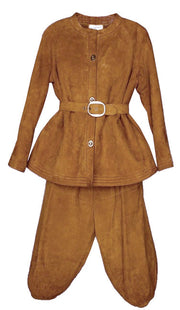 Bonnie Cashin Sills Vintage Suede Knickers and Jacket Set 1960s Saks - Dressing Vintage