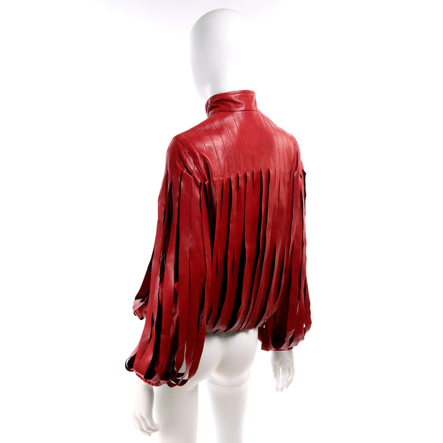 Bottega Veneta Red Leather Jacket