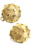 Marcel Bouchar gold tone ball earrings