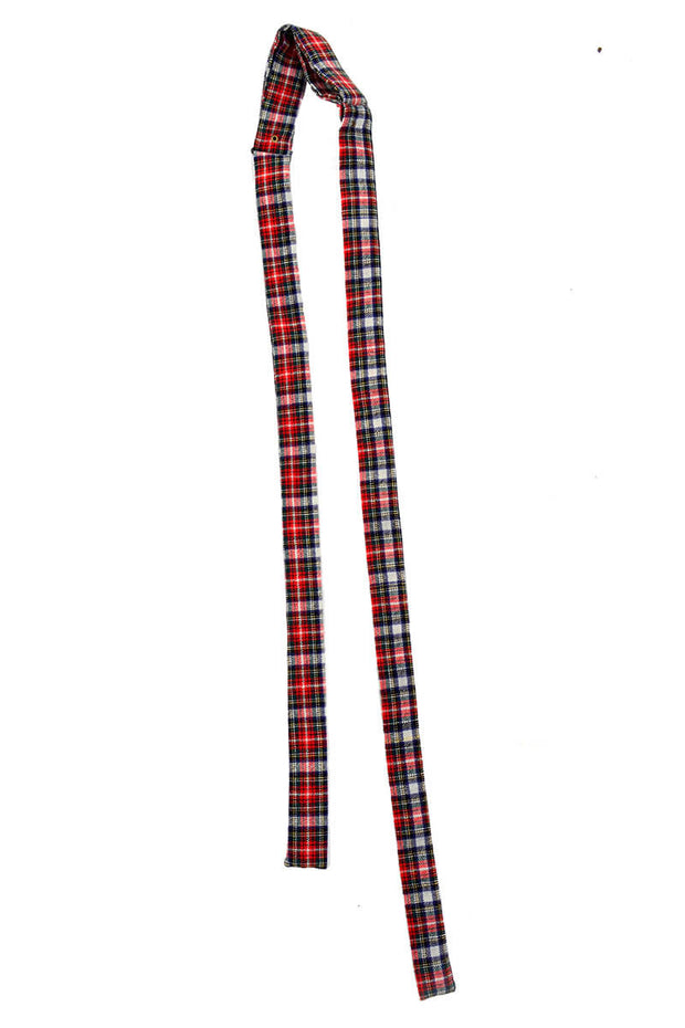 Briar Plaid Tartan Wool Colonel String Tie - Dressing Vintage