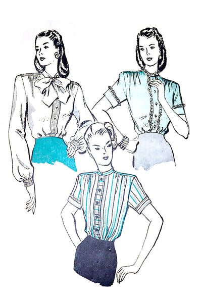butterick 3855 1940s blouses