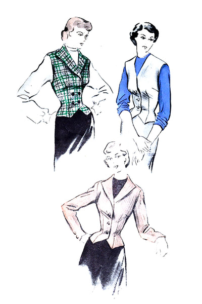 Butterick 4828 Vintage Pattern for Vest Jacket