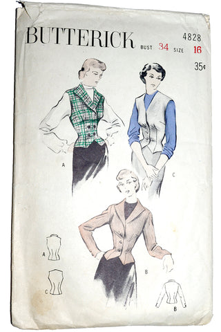 Butterick 4828 Vest Jacket Pattern