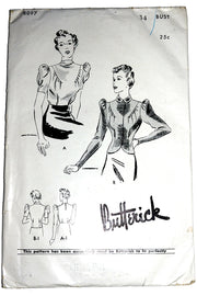 1930s Butterick 8097 Blouse Sewing Pattern