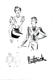 1930s vintage sewing pattern Butterick 8097