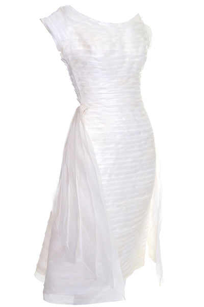 William Cahill Beverly Hills Vintage Wedding Dress XS/S Organza - Dressing Vintage
