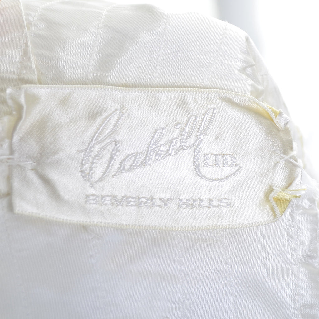 William Cahill Beverly Hills Vintage Wedding Dress Pleated Organza ...